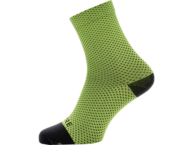 GORE WEAR C3 Dot Calcetines de longitud media, neon yellow/black